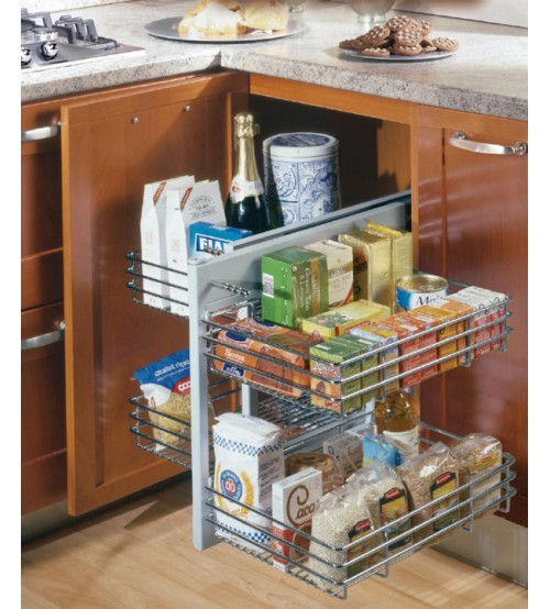 Pull Out Kitchen Storage Solutions, How To Fix Pull Out Corner Kitchen Cupboard Handle