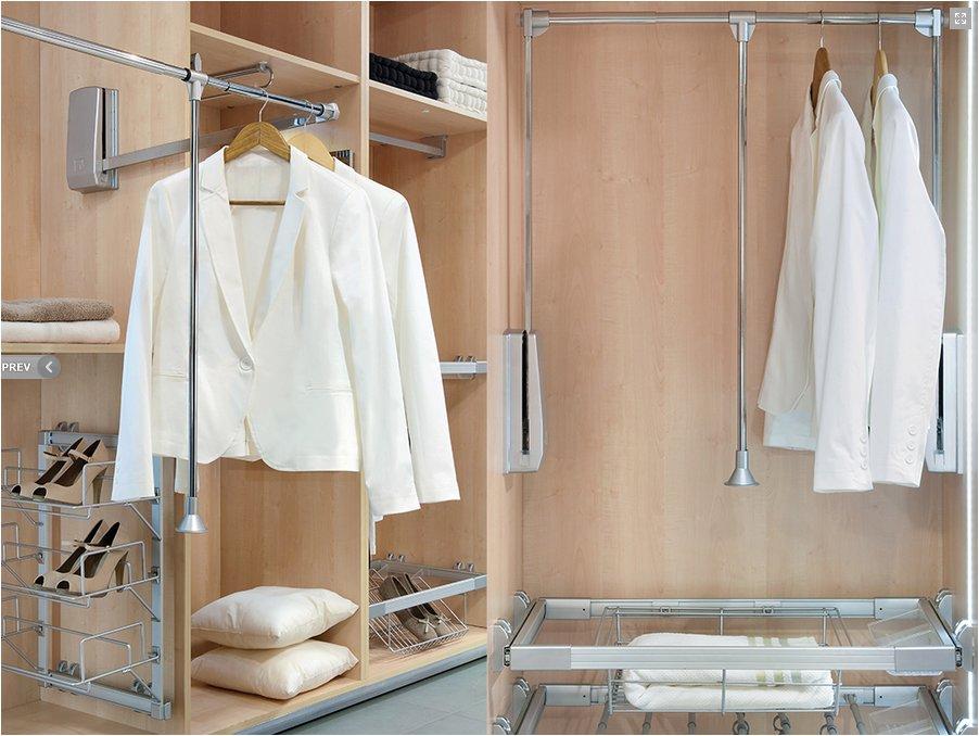 Pull Down Wardrobe Rail For Wardrobe Lift
