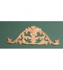 Decorative Scroll Wood Carving Applique