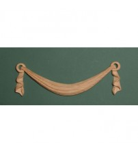 Linenfold Carving Wood Swag Applique - 335