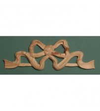 Bow Wood Carving Applique - 504