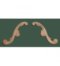 Arch Leaf Wood Carving - 599