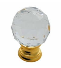 HAC670 Lead Crystal Clear Faceted Knob