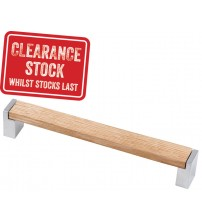 Oak & Satin Pull Bar Handle - HAC06000