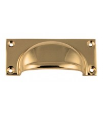 SOLID BRASS 2174 Bin Pull Drawer Handle