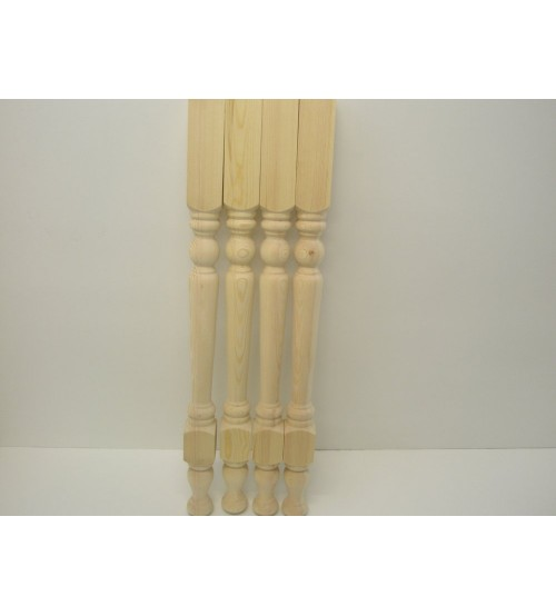 57mm Unfinished Pine Table Legs