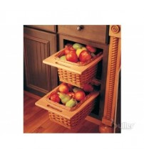 Wicker Storage Basket Drawers with Handles