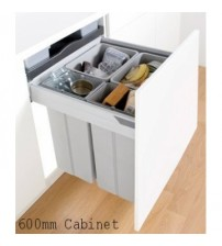 Pullboy Z Kitchen Cupboard Pull Out Integrated Bin
