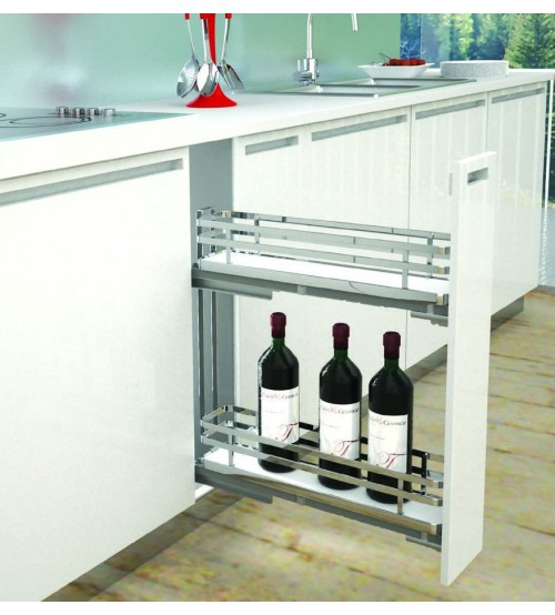 Infinity Plus 150mm Pull Out Kitchen Cabinet Wine Rack ... & Pull Out Kitchen Cabinet Wine Rack | Sige Kitchen