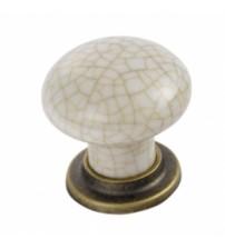 FTD630 Porcelain Mushroom Pattern Knob