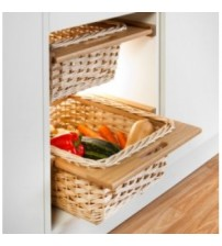 Wicker Basket Set - Oak ( 2 Baskets )